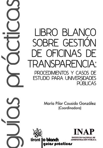 Libro Blanco Sobre Gesti N De Oficinas De Transparencia
